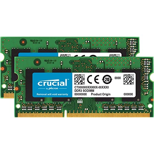 Crucial CT2K4G3S160BM Kit de Memoria para Mac de 8 GB 4 GB x 2 DDR3 DDR3L 1600 MT s PC3 12800 SODIMM 240 Pin