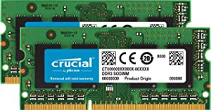 Crucial 8GB Kit (4GBx2) DDR3/DDR3L 1600 MT/s (PC3L-12800) Unbuffered SODIMM 204-Pin Memory - CT2KIT51264BF160BJ, Green