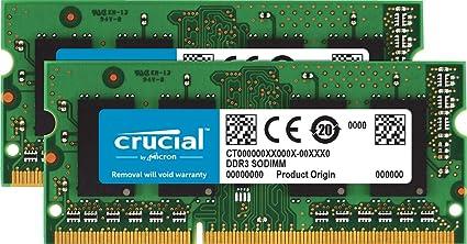 Crucial 16gb Kit 8gbx2 Ddr3 Ddr3l 1600 Mt S Pc3 12800 Unbuffered