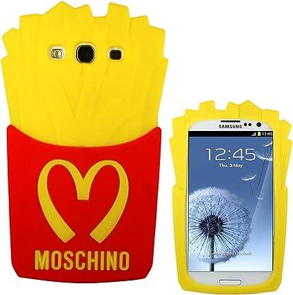 Coque Frites Moschino 3d caoutchouc silicone pour Samsung Galaxy ...
