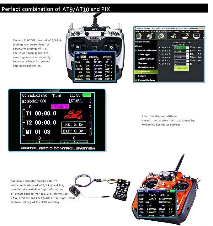Amazon.com: RadioLink Pixhawk PX4 32 bit brazo regulador de ...