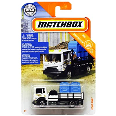 Matchbox 2020 MBX Construction Poop King 22/100, White: Toys & Games