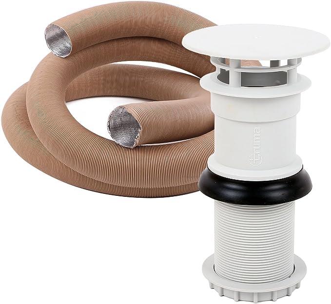 Chimenea de escape Truma 65 mm Gris sl3002 para calentadores, extractoras + 3 metros de manguera aislante para remolques y caravanas: Amazon.es: Coche y moto
