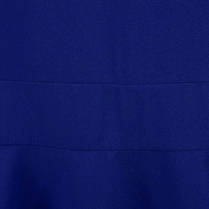 FOTBIMK damska sukienka z długim rękawem Lace Panel okrągły dekolt retro sukienka styl i kobiety mądrości sznurowanie Sich Pach-praca długa rękawy oansatz Weinlese-sukienka bandowa: Odz