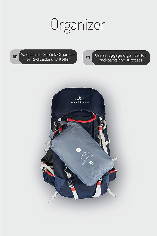blau wasserfeste Tasche leicht Rucksack 10l Trockensack 5l NORDKAMM Dry-Bag wasserdicht 15l oder Set Ultra-Light f/ür Reisen