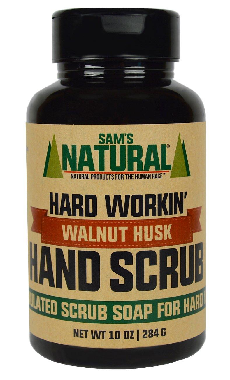 Sam's Natural Hard Workin' Walnut Hand Scrub 10 oz - Hand Scrub Soap - Natural - Vegan and Cruelty Free - America's Favorite by Sam's Natural