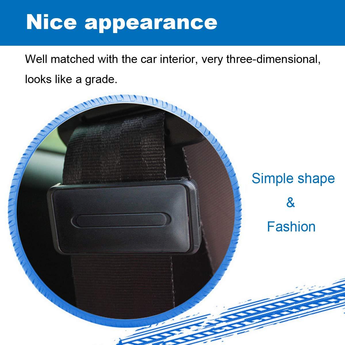 WENTS 4 Pack Ajustador del cintur/ón de seguridad para relajar el cuello del hombro El/ástico ajustable antideslizante Clip de cintur/ón de seguridad