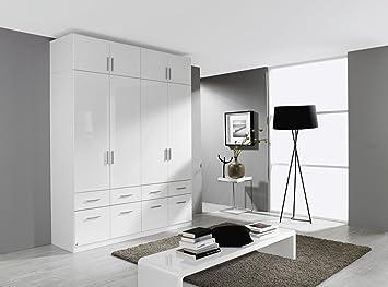 Mit Weiß Rauch Kleiderschrank AufsatzBht Celle4trgHochglanz vmnwN80