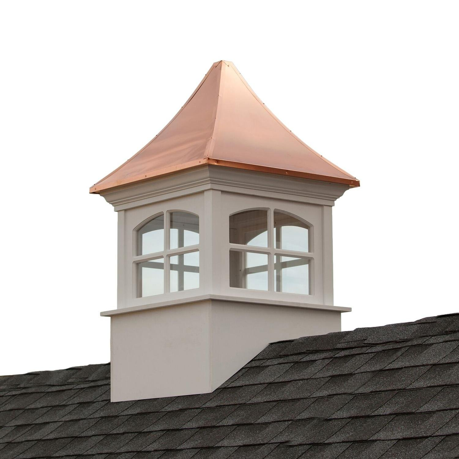 79'' Beautiful Handcrafted Westport Vinyl Cupola with Copper Roof
