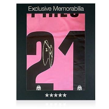 Andrea Pirlo Firmado Juventus 2013-14 lejos camiseta de fútbol en caja de regalo