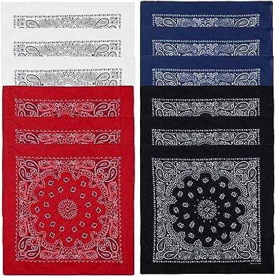 Amazon Com Paquete De 12 Pañuelos Suaves Para Hombres Y Mujeres 22 0 X 22 0 In 12 Unidades De Algodón Paquete De 12 Unidades Clothing