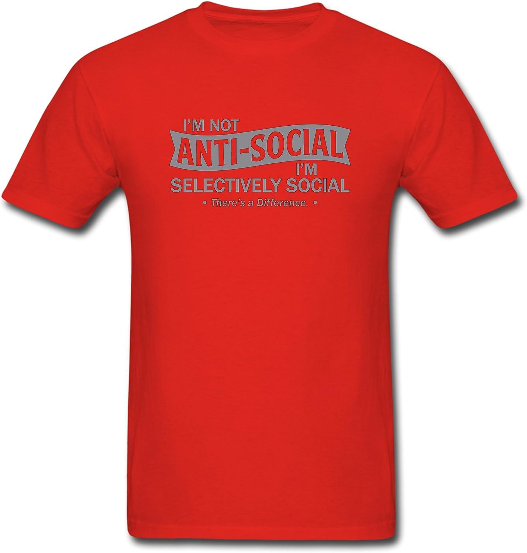 Ángel que no soy antisocial estoy selectivamente social de hombre Funny T-Shirt: Amazon.es: Ropa y accesorios