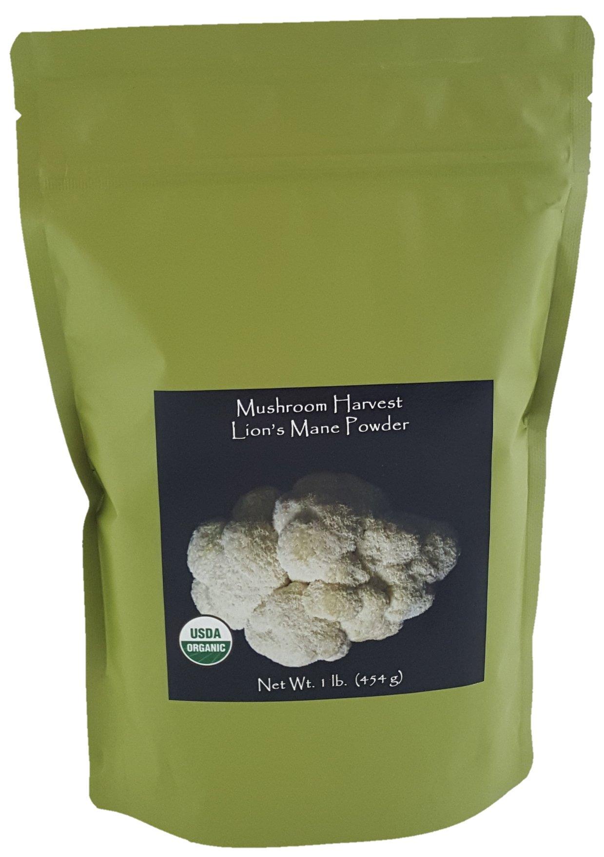 Lions Mane Mushroom Powder Certified Organic 1lb. Bulk