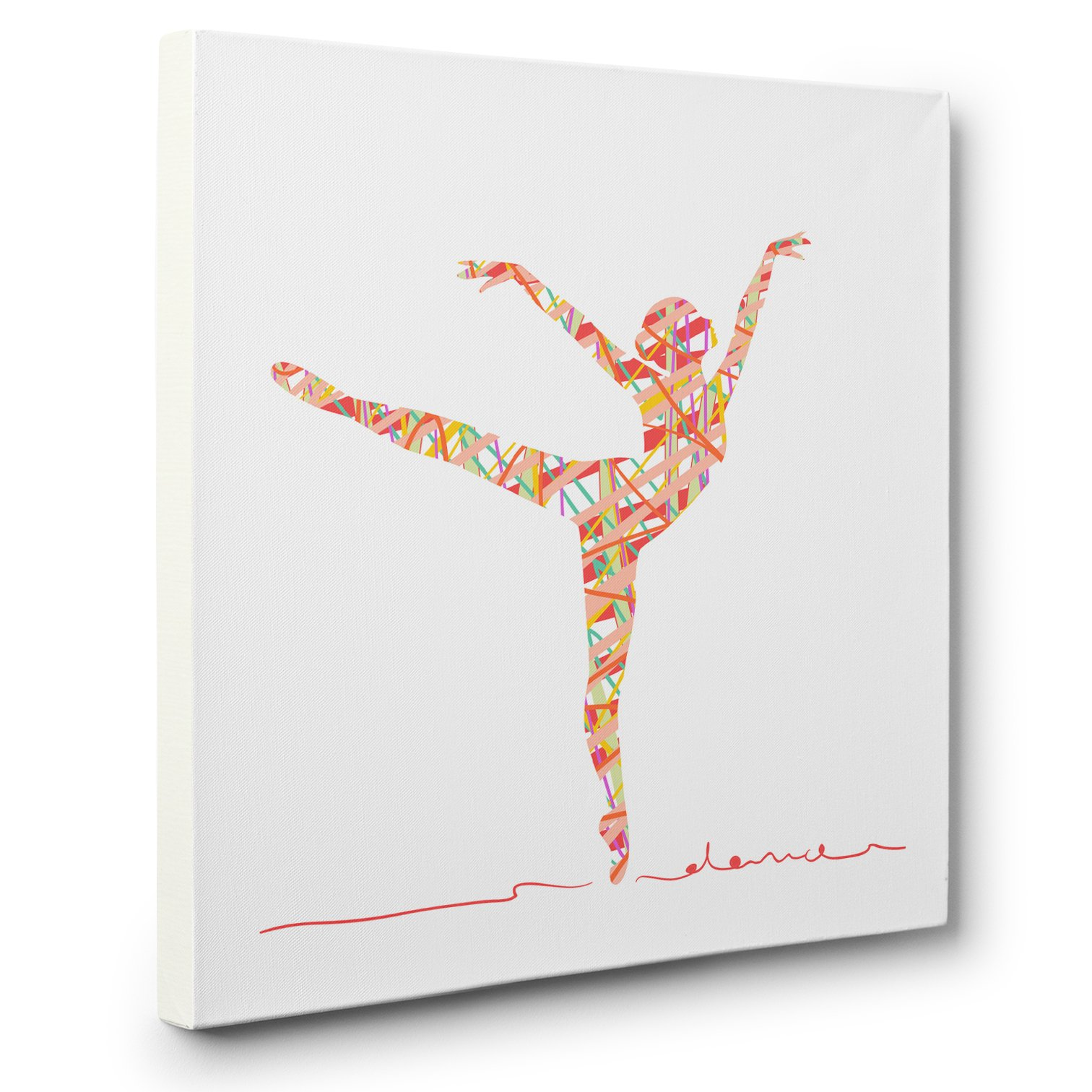 Abstract Silhouette Dancer CANVAS Wall Art Home Décor