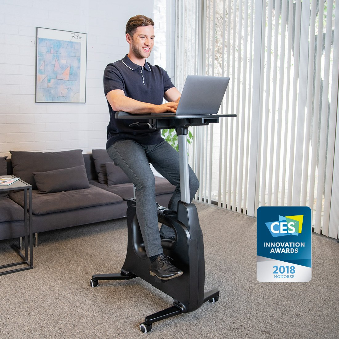 FLEXISPOT V9 Serie Höhenverstellbares Tischfahrrad, Heimtrainer, Fitnessfahrrad Ergometer Fitnessbike