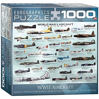 World War II Aircraft Puzzle, 1000-Piece: Toys & Games