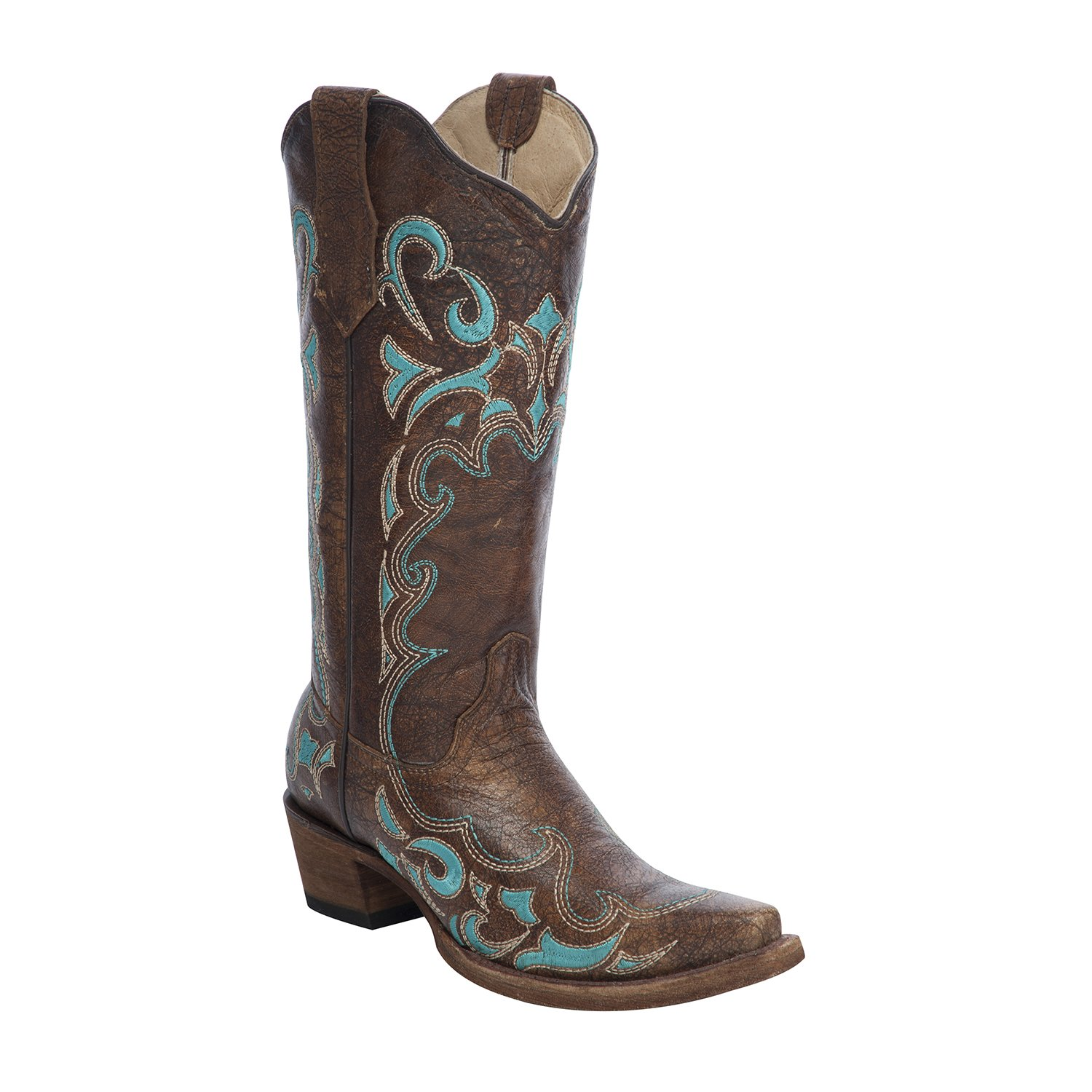 Corral Circle G Women's Turquoise-Embroidered Distressed Brown Leather B(M) Cowgirl Boots B01EN9GWLY 11 B(M) Leather US|Brown 3123f8