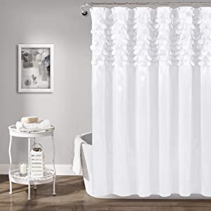 Lush Decor Lillian Shower Curtain, White