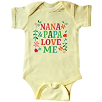 inktastic Nana and Papa Love Me Gift Infant Creeper