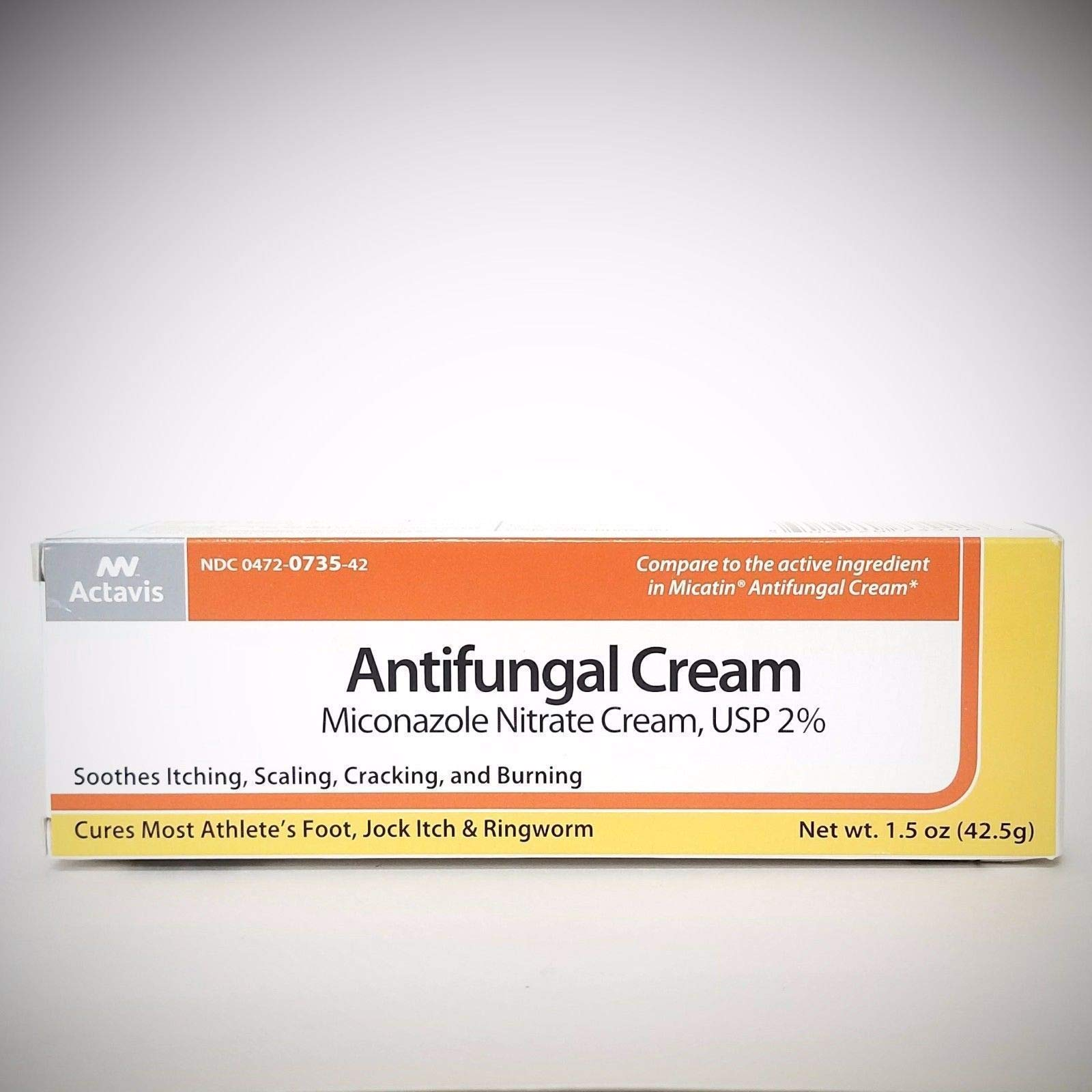 Actavis Miconazole Nitrate 2% Antifungal Cream - 1.5 oz, Pack of 5 by Actavis