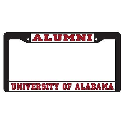Amazon.com : Alabama Crimson Tide Plate Frame BLACK PLATE FRAME AL ...