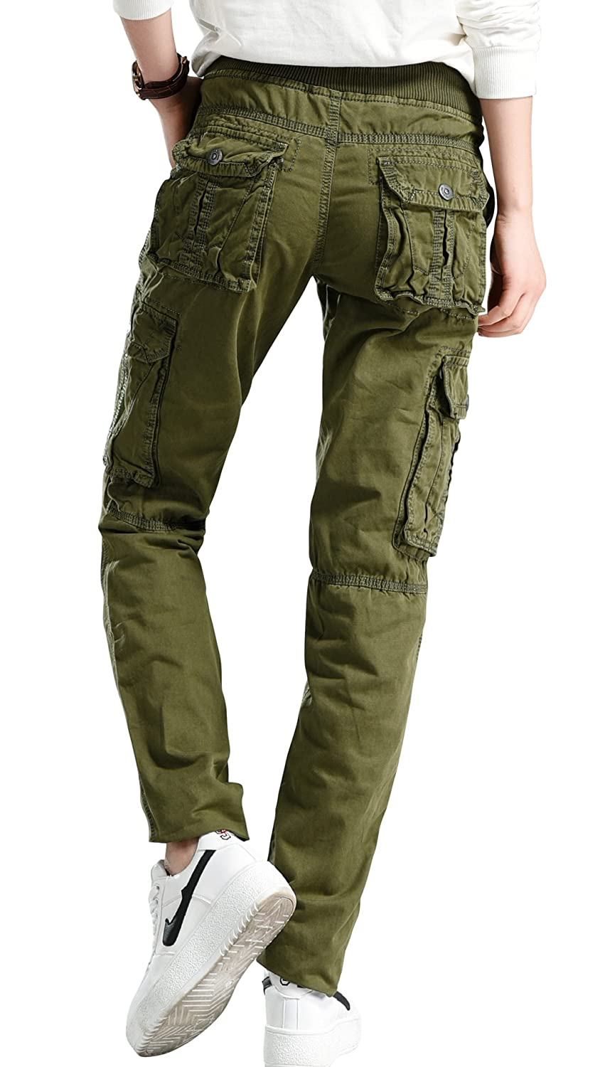 Chouyatou Women's Casual Camouflage Multi Pockets Cargo Pants at ...