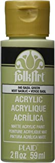 product image for FolkArt Acrylic Paint in Assorted Colors (2 oz), 645, Basil Green