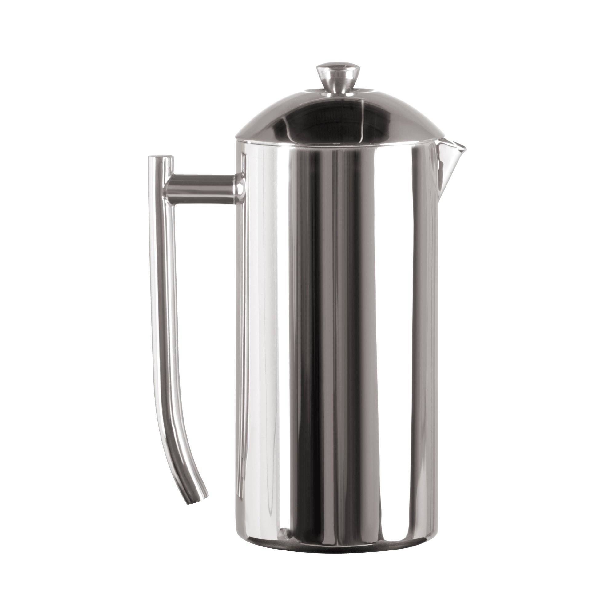 Frieling USA Double Wall Stainless Steel French Press Coffee Maker with Patented Dual Screen in Frustration Free Packaging, Polished, 36-Ounce