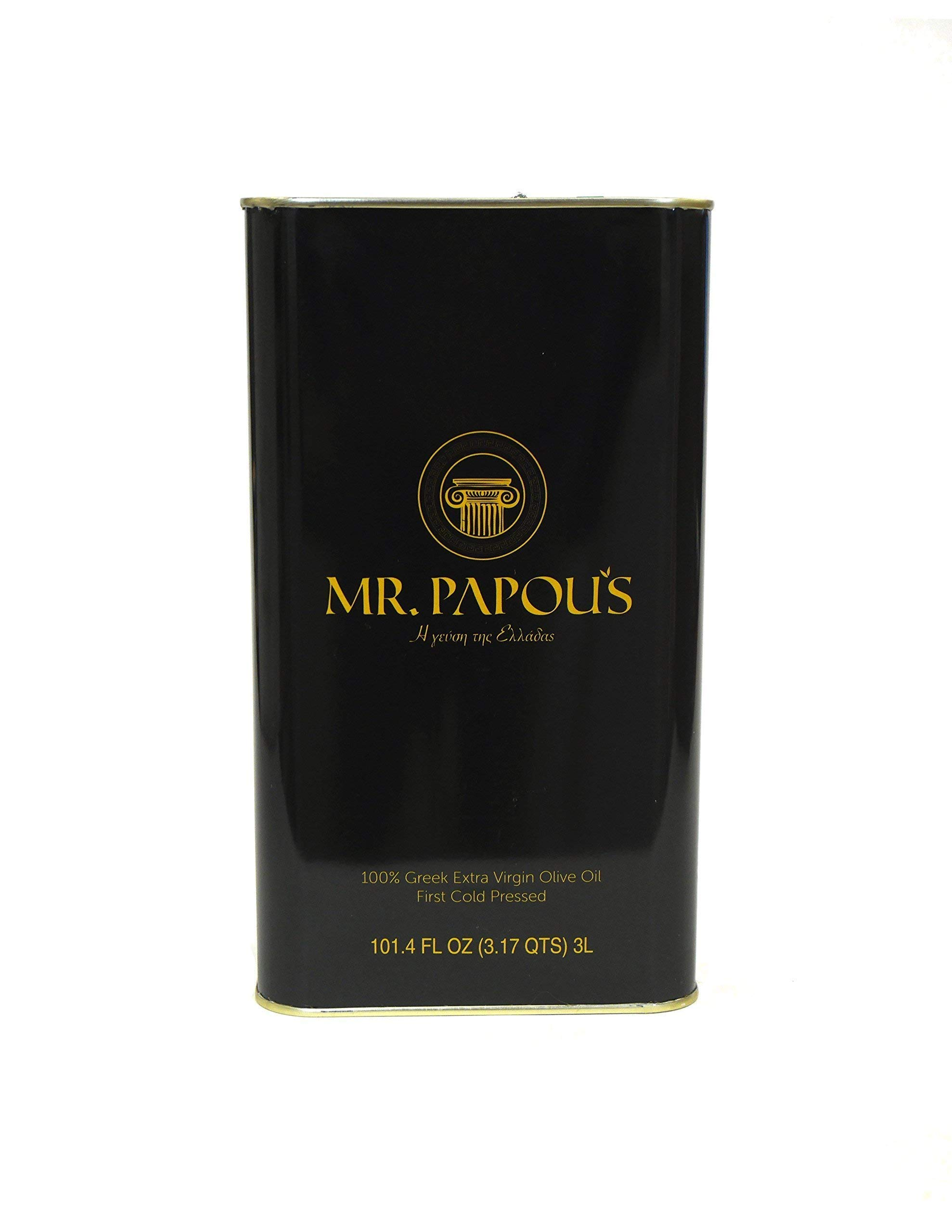 Mr. Papou's | Extra Virgin Olive Oil | First Cold Pressed | Family Owned | Harvested in Corinth, Greece | 3 Liter - 101.4 fl oz by Mr. Papou's (Image #5)