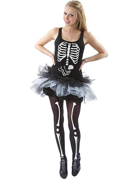 Costume Carnevale Halloween Travestimento Scheletro Baby - sexy donna Extra  Large  Amazon.it  Abbigliamento 0f36c6ed8b21