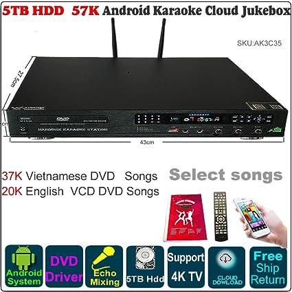 Amazon com: AK3C Android HDD Karaoke Jukebox/Player Chinese+English