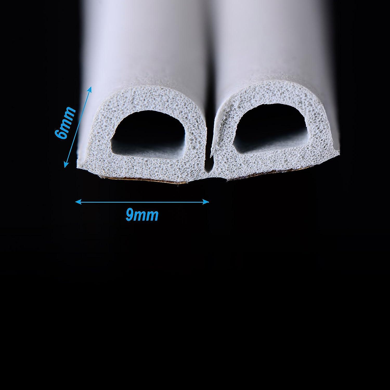 /Profil Joint de porte Joint en caoutchouc bande d/étanch/éit/é pour porte fen/être Fen/êtres Joint autoadh/ésif 10/m /étanche bande d/