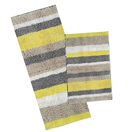 amazon com hebe microfiber bath rug runner set for bathroom rh amazon com bathroom rug runners in brown bathroom rug runners in print