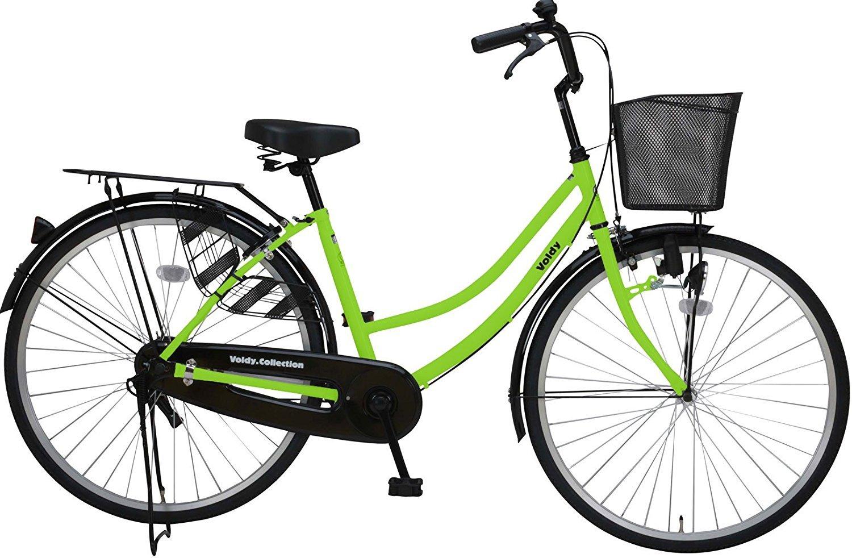 完全組立 VOLDY(ボルディ) 26インチ自転車ママチャリ VO-VM-266 シマノ製6段ギア付き B01NBNXGTI グリーン グリーン