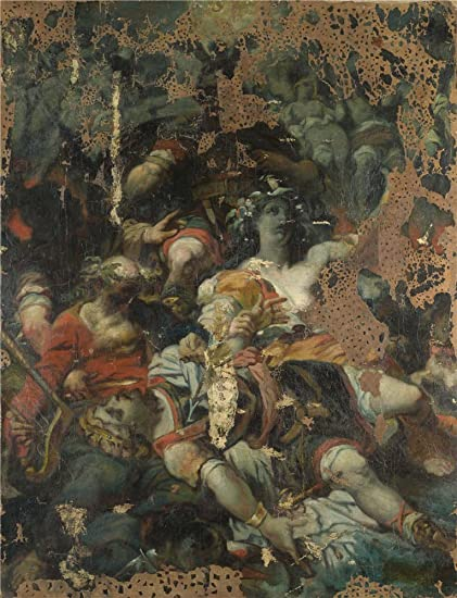 Oil Painting French An Allegory19th Century  Inch  Cm On High Definition Hd Canvas Prints Is For Gifts And Bed Room