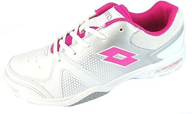 Lotto T-Strike CL L - Zapatillas de running para niña, color blanco y rosa, color Rosa, talla 37 EU: Amazon.es: Zapatos y complementos