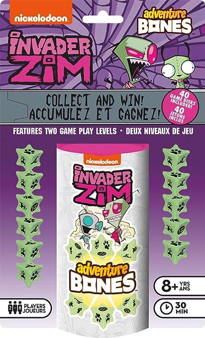 amazon com invader zim adventure bones dice game toys games