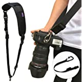 Camera Shoulder Strap, DOPTO Professional Photography Set Extended Camera Neck Strap with Safety Tether for All DSLR Camera Nikon Canon Sony Olympus Samsung Pentax ETC Olympus (Black)