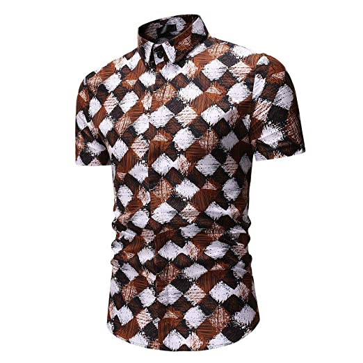 c7963b6b0ac22 Luxury Design Print Dress Shirt for Business Holiday Party Camp Daily at  Amazon Men s Clothing store