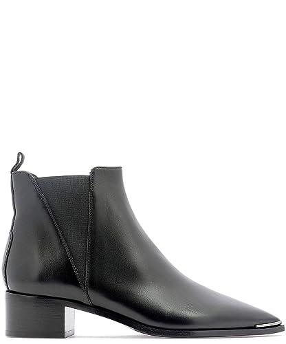 6cd4e90d46b ACNE STUDIOS Femme 1EGD44900 Noir Cuir Chaussures À Talons  Amazon ...