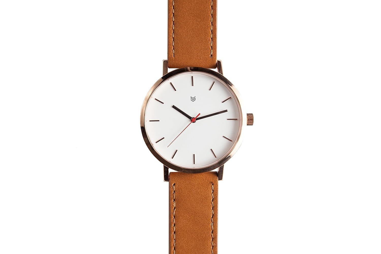 Squadron Watch Uhr White Rose Herren Armbanduhr OR2 Leder 43mm