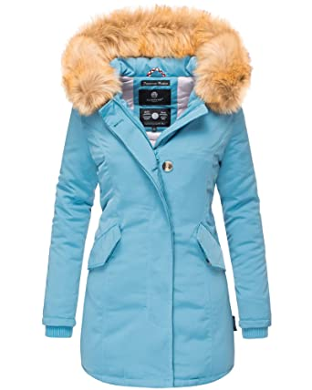 98090524f7ed Marikoo Damen Winter Jacke Stepp Parka Mantel Winterjacke warm gefüttert  Kunstpelz KARMAA XS-XXL  Amazon.de  Bekleidung