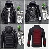 Non Rock eléctrico calefacción chaqueta de ropa con de Batería recargable Banco de alimentación recargable,