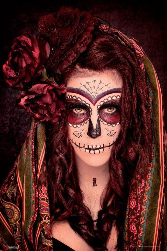 Pyramid America Day of The Dead Santa Muerte Tattoo Cool Wall Decor Art Print Poster 12x18