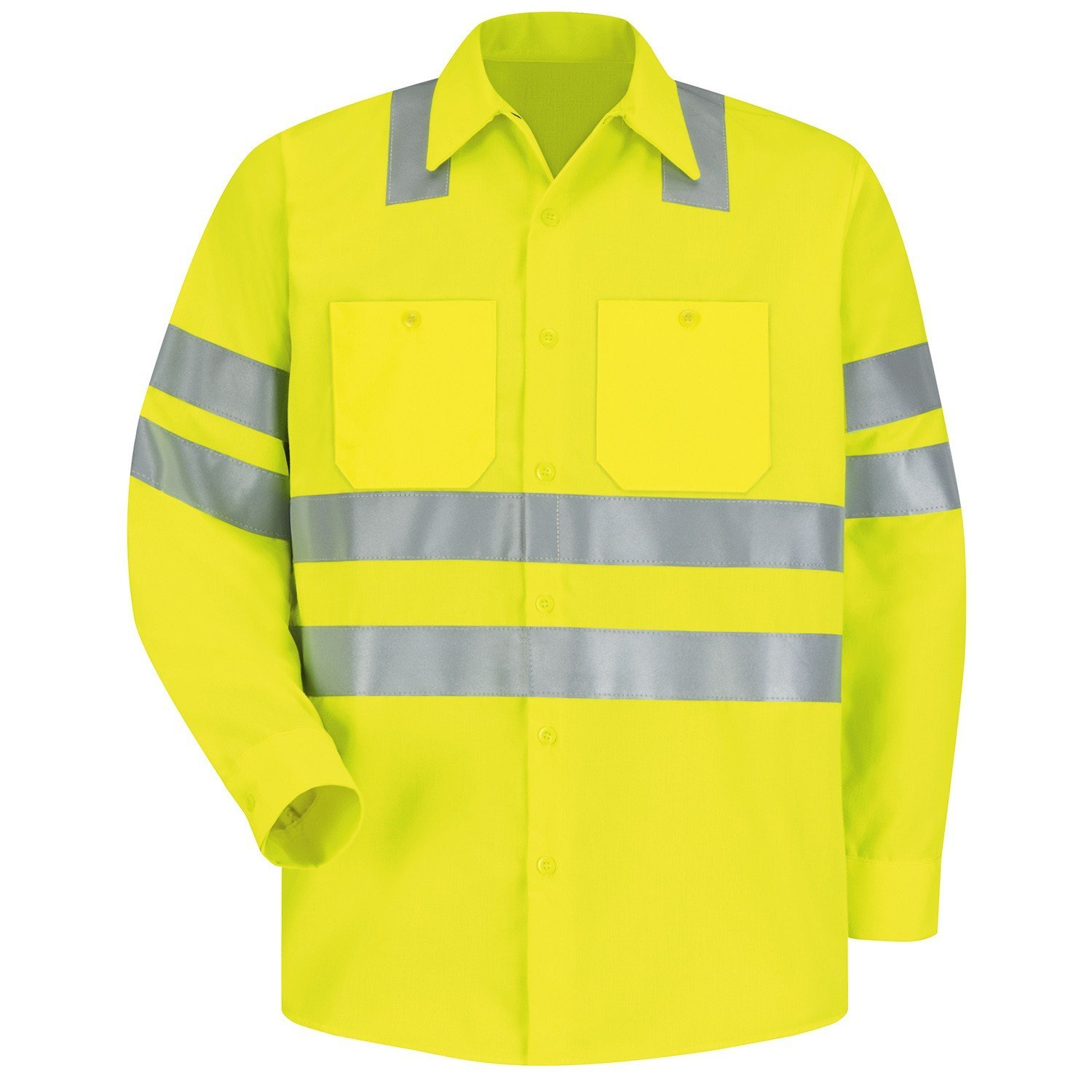 Brite Safety Style 240 Hi Vis Shirt Long Sleeve Safety Shirts With