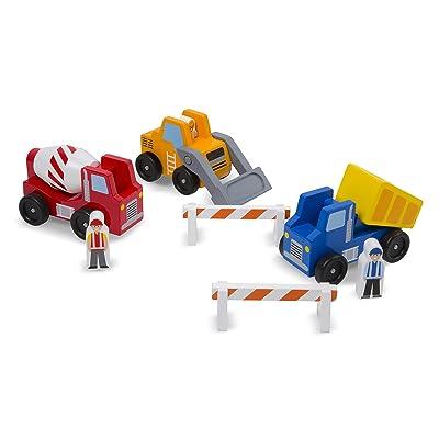 Melissa & Doug Construction Vehicle Set (8 pcs): Toy: Toys & Games