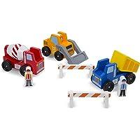 Melissa & Doug Construction Vehicle Wooden Play Set (8 pcs)