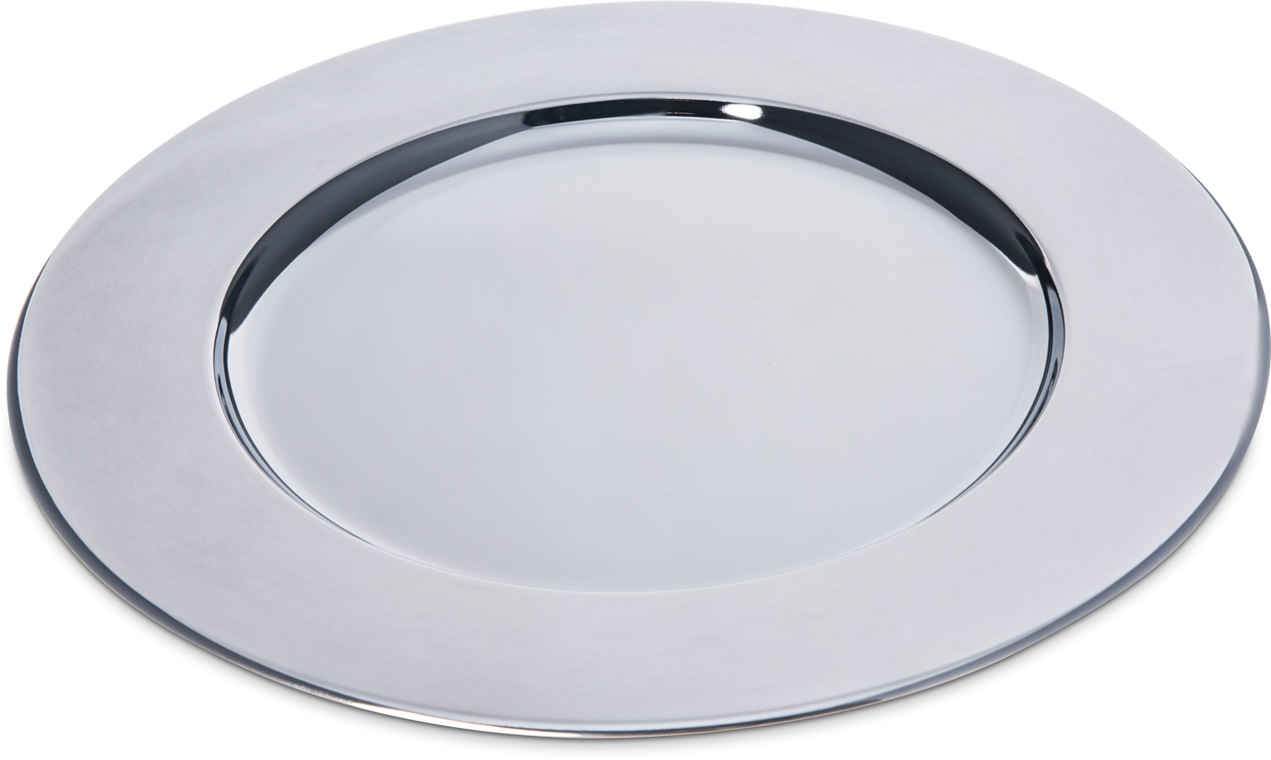 Carlisle 608924 Celebration Chrome Plated Iron Charger Plate, 12.19'' Diameter x 0.44'' Height (Case of 12)