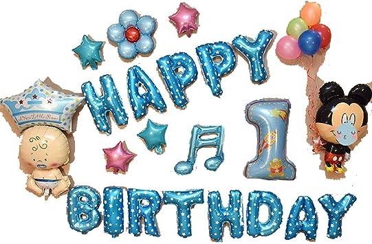 El Feliz Cumpleaños Hincha Bandera, Globos Decoración Set, Feliz Cumpleaños Alfabeto Feliz Cumpleaños Y Corazón De La Estrella Hoja Hincha, Arreglo Partido De Aluminio Película De Gas Niños Del Alfabe: Amazon.es: Juguetes