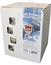 Agrobiothers, Cartone di 50Palline di Grasso per Uccelli/Animali Selvaggi